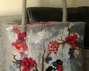 Big Handmade Felted Bag