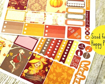 Happy Planner Stickers - Weekly Planner - Erin Condren Life Planner -  Functional stickers - Fall Planner stickers - Thanksgiving stickers