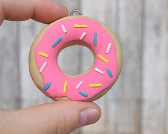Doughnut Ornament, ornament, Donut, breakfast ornament, doughnut, rainbow sprinkles, Christmas ornament,