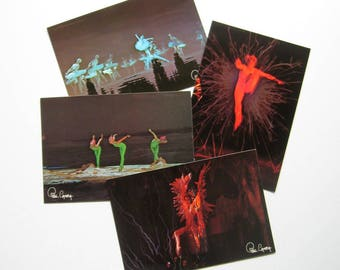 Vintage Dance Photography Post Cards - Set of 4 - 1970's - Photographer Kim Camba, Collector's item, Dance, Ballet, Printed in France, Rare
