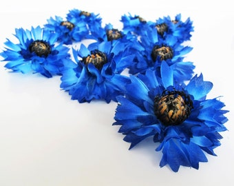 35 Cornflowers Blue Bluebottle Silk Anemones Bouquet Artificial Silk Flowers Bouquets blue blossoms Simulation Flower Home Party Dec