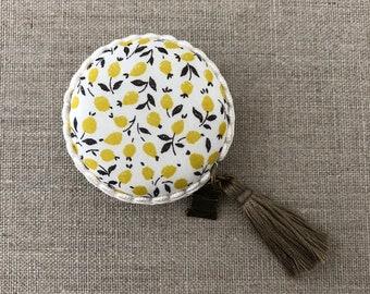Handmade Macaron Measuring tape made with Liberty of London fabric #39