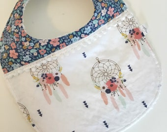 Baby boho/colour block drool bib