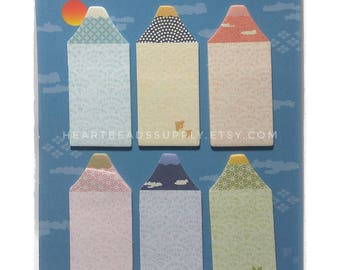 Mount Fuji, sticky notes, post it, school office stationery, index tab, kawaii paper goods, memo pad, page maker id111213 Sticky Notes Tab