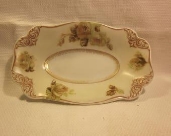 Vintage Silesia Old Ivory dish, celery dish, relish tray, dresser tray, vanity tray