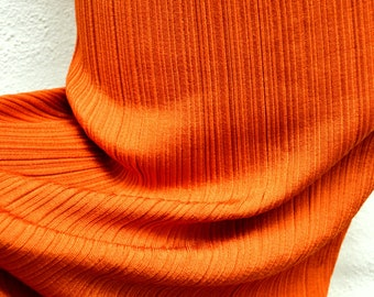 Incredible Vinatge PLEATED Orange TUBE  SKIRT or Dress. Size Small