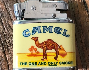Vintage Camel brand advertising cigarette lighter from 1995