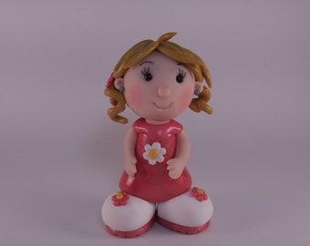 Blonde hair cutie figurine