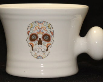 Day of the Dead - Sugar Skull - Dia De Los Muertes- shaving mug