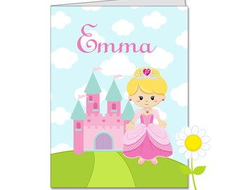 Personalized Princess Folder - Pink Princess Pocket Folder for Girls - Custom School Supplies with Name - Kids' Back to School Gift