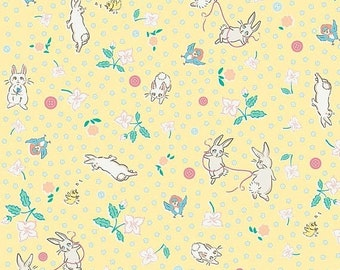 20% OFF Penny Rose Fabrics Bunnies and Blossoms Main Yellow
