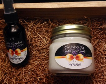 Grapefruit Sugar Scrub and Body & Linen Spray Combo