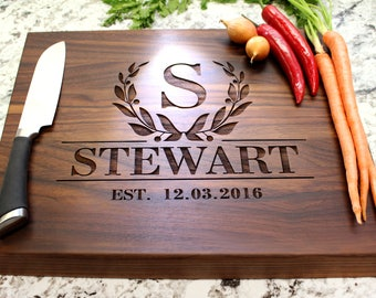 Personalized Chopping Block 12x15x1.75 - Cutting Board, Wedding Gift, Housewarming Gift, Anniversary Gift, Engagement W-011 GB