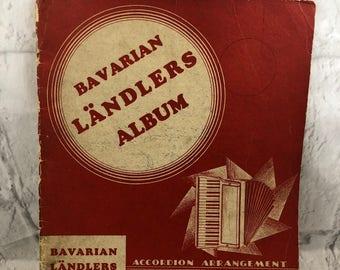 Vintage Bavarian Landlers Album Accordion Arrangement By John Krachtus