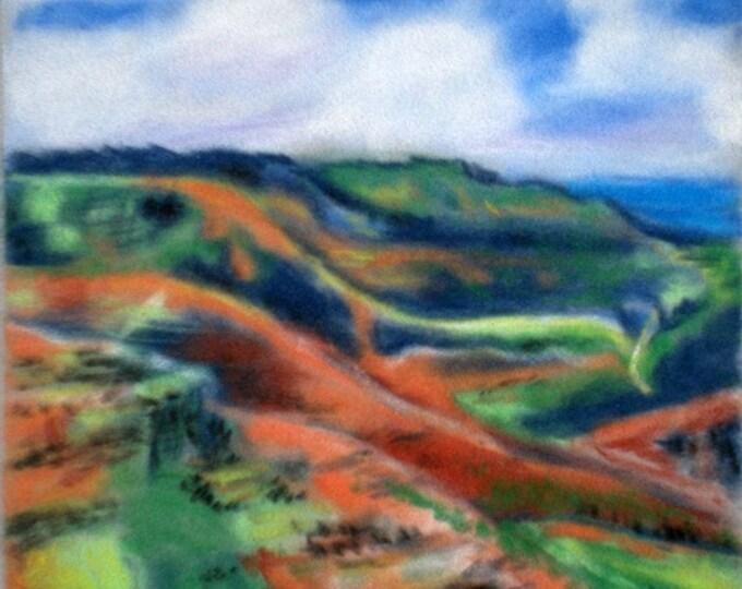 Waimea Canyon 5x7 Art Print from Kauai Hawaii red dirt