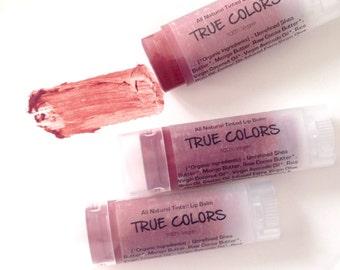 Hibiscus Red - Vegan Tinted Lip Balm. All Natural Lip Tint