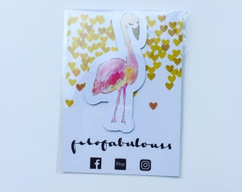 Summer Flamingo Magnetic Book Mark - Page Marker