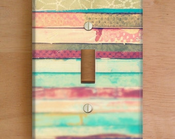 Artist Vinyl Light Switch Cover. Outlet Cover, Photography, Modern Art, Home Decor, Vinyl Stickers, Stripes, Art Decor, Wall Art, Dorm Decor
