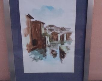 Watercolor -aquarelle painting