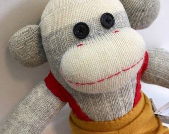 Harv the Fire Fighter Sock Monkey
