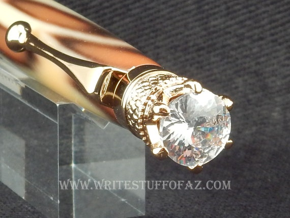 Mother's Day Leopard Skin Print Twist Pen, Adorned with Swarovski Crystal