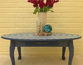 Bold geometric hand painted table