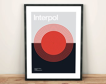 Interpol Remixed Gig Poster, Art Print, Music Poster