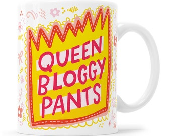 Queen Mug Blog Gift Boss Mug Blogger Gift Queen Gift Blogger Mug Girl Boss Gift Bossy Pants Blog Boss Blogger Queen Blog Planner Blog Suppor