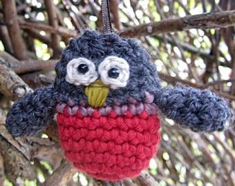 Crochet Pattern for Mister Robin Bauble