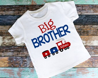 Personalized Big Brother Choo Choo Train Bodysuit or Shirt - Personalized with ANY Name!