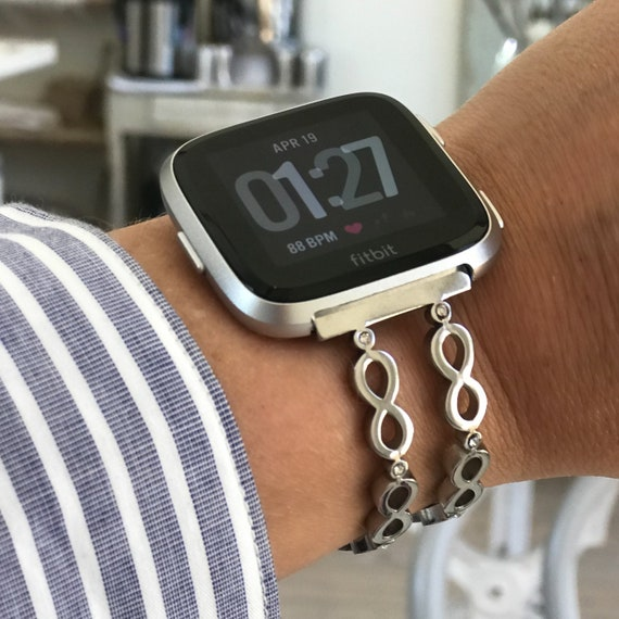 Watch Bangle INFINITY for Fitbit Versa - silver, gold or rose gold - stainless steel