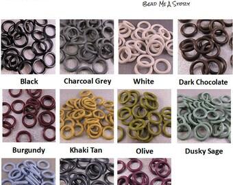 15mm Rubber Orings - Neutrals & Earth Tones - choose color