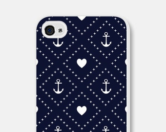 Anchor iPhone 6 Case Anchor iPhone 6 Plus Case Heart iPhone 5 Case Nautical iPhone 5c Case Navy iPhone 5s Case Navy Blue 4th of July