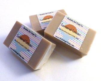 Caramel Cream MINI GUEST Size Goats Milk Soap Bar - Dulce Caramello Type