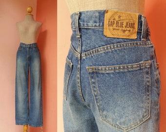 High Waisted Gap Jeans 28 Waist | Vintage Jeans Women Medium | High Waisted Jeans | Womens Jeans Vintage | Blue Straight Jeans | Denim Pants