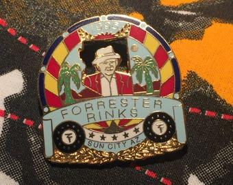 1996 Lawn Bowling Tournament Enamel Pin Forrester Rinks  Sun City, AZ // Unique Niche Kitsch Old Man Nerdy Cool