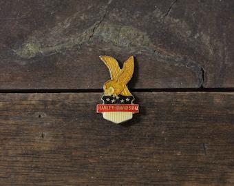 ON SALE // RARE Vintage Harley Davidson Lapel Pin