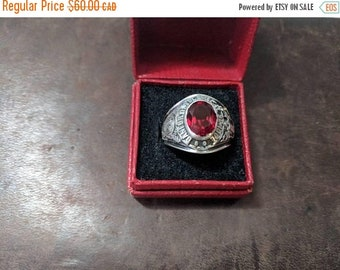 ON SALE Vintage Sterling Silver 'Danforth Technical School' Ring