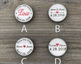 Personalized Wedding magnets, Wedding Souvenir, save the date magnets, glass magnets, wedding favors, wedding gift ideas