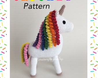 Amigurumi Crochet Unicorn Pattern (English Only)