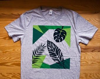 Floral shirt / Tropical shirt / Floral print shirt / Palm leaf shirt / Palm leaves shirt / Palm print / Palm tree / Palm leaf shirts