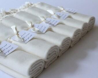 6 IVORY PASHMINA SHAWLS - Set of 6 Ivory Wraps - Keepsakes - Favors - Shawls and Wraps - Ivory Shawls Set of 6 - Wedding Favors - Cover Ups