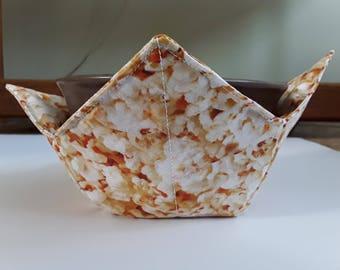 Microwave Bowl Cozy / Ice Cream Hand Warmer / Bowl Pot Holder - Popcorn
