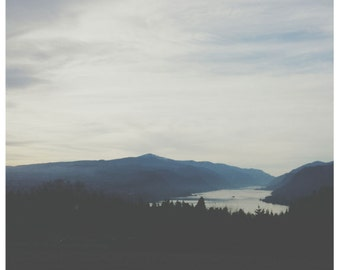 Earth day landscape photo with quote, Columbia River Gorge