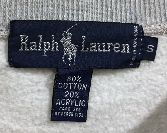 Bear RL92 Jumper Pesci Pwing Sweatshirt Polo Ralph Joe Stadium Pullover RPL Rare Lo Sweater Polo Lauren PRL Vintage Stripes Embroidery x0OTW1q