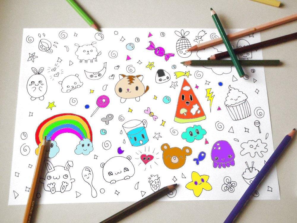 Amato kawaii disegno da colorare per bambini e adulti amanti VH55