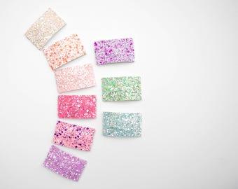 Spring Sherbet Glitter Snap Clips, Glitter Snap Clips, Glitter Hair Clips, Snap Clips, Hair Clips, Snappers, Spring, Easter, Glitter
