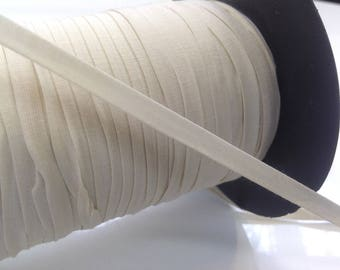 Through very soft, elastic, ecru width 7mm, ideal for lingerie.