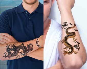 Supperb® 2-Sheets Dragons Temporary Tattoos