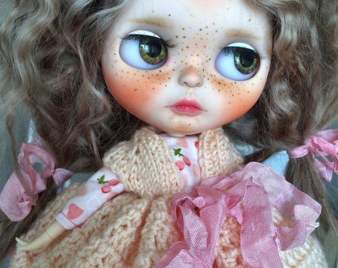 Gerda OOAK Blythe doll RBL Renew Takara Blythe, Original Custom blythe, Reroot hair,  Blythe TBL, Interior doll, Blythe handmade